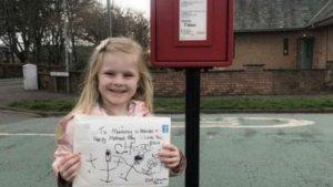 Девочка написала письмо умершей матери